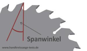 Kreissägeblatt-Spanwinkel