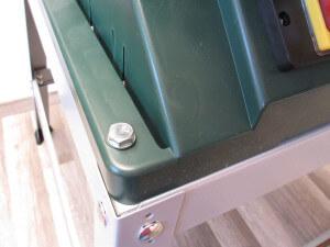 Untergestell und Bosch PTS 10 T Tischkreissäge
