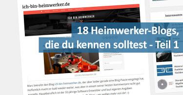 Heimwerker-Blogs-Teil-1