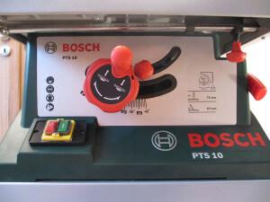 Frontansicht Bosch PTS 10 T Tischkreissäge